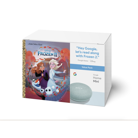 Google Home Mini (Aqua) & Frozen II Book Bundle