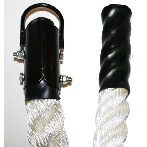 Muscle Driver USA Nylon Rope with Plyometric Ends and Metal Clamp - 1.5'' Diameter