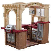 Step2 Grand Walk-In Play Kitchen & Grill with 103 Piece Play Food Accessory Play Set