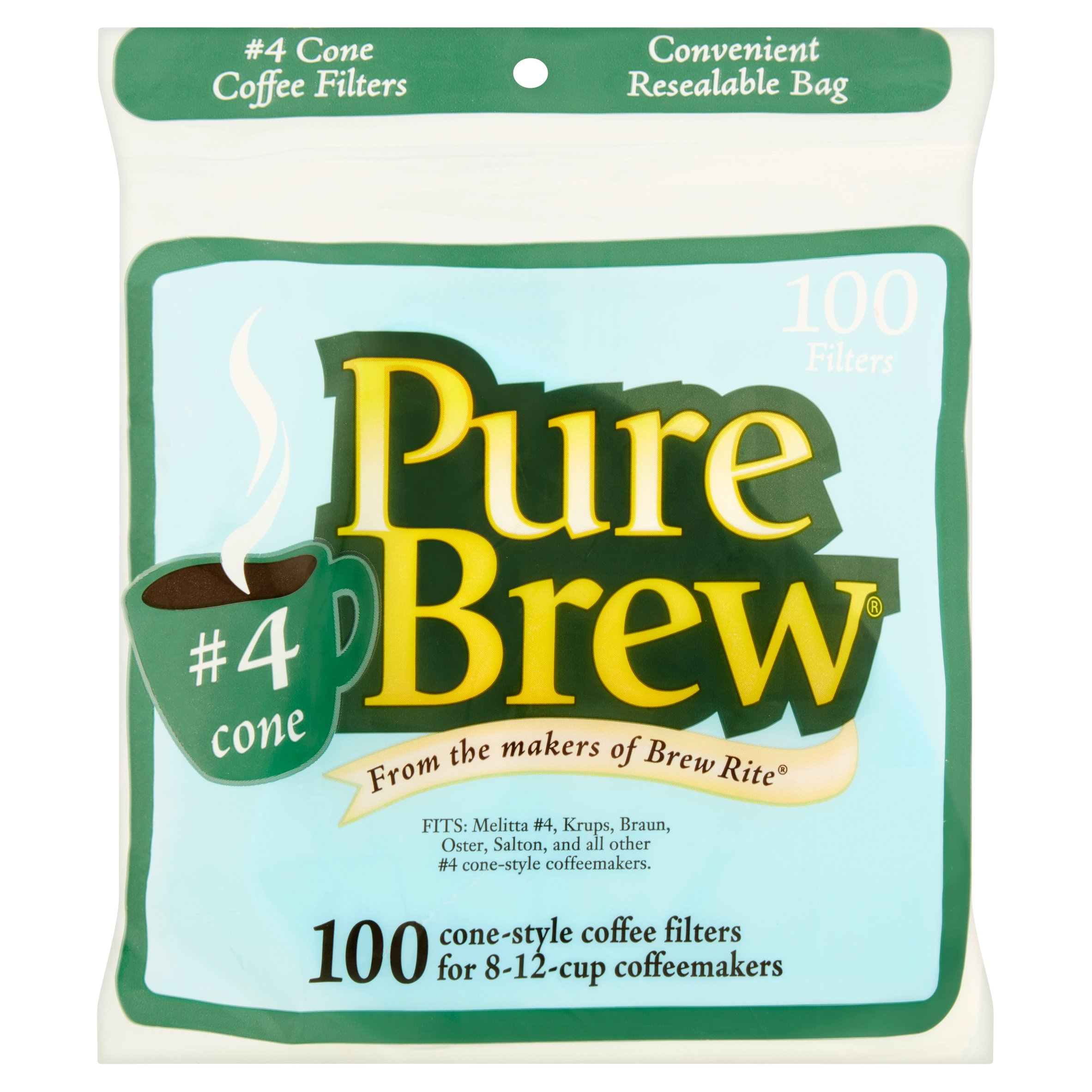 Pure Brew #4 Cone Filters, 100 count