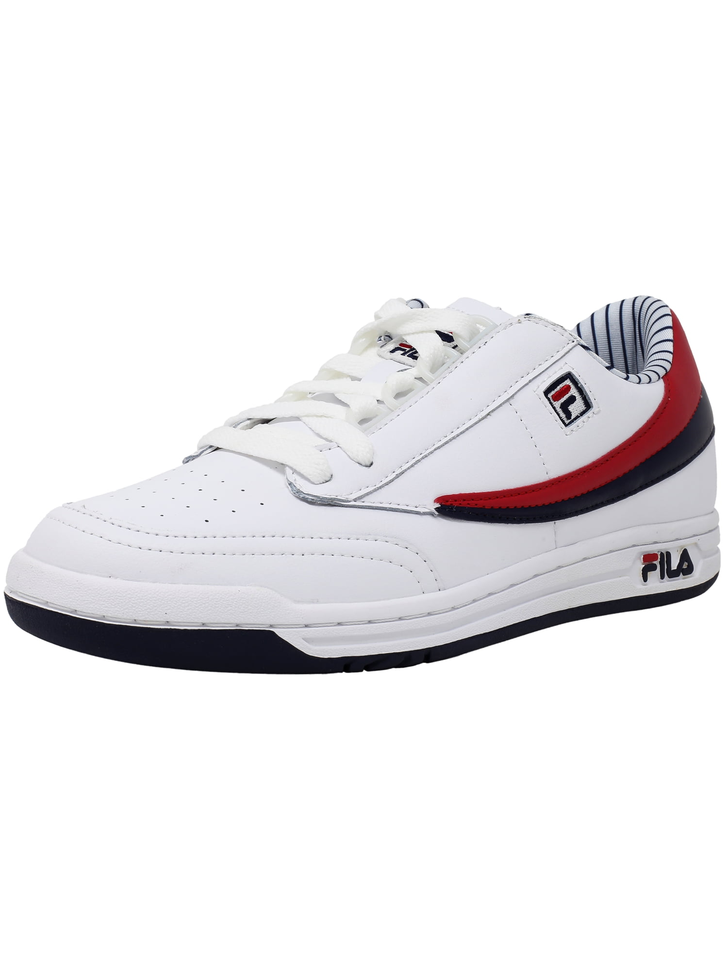 Fila Fila Men's Original Tennis White Navy Red Ankle High Shoe 9.5M