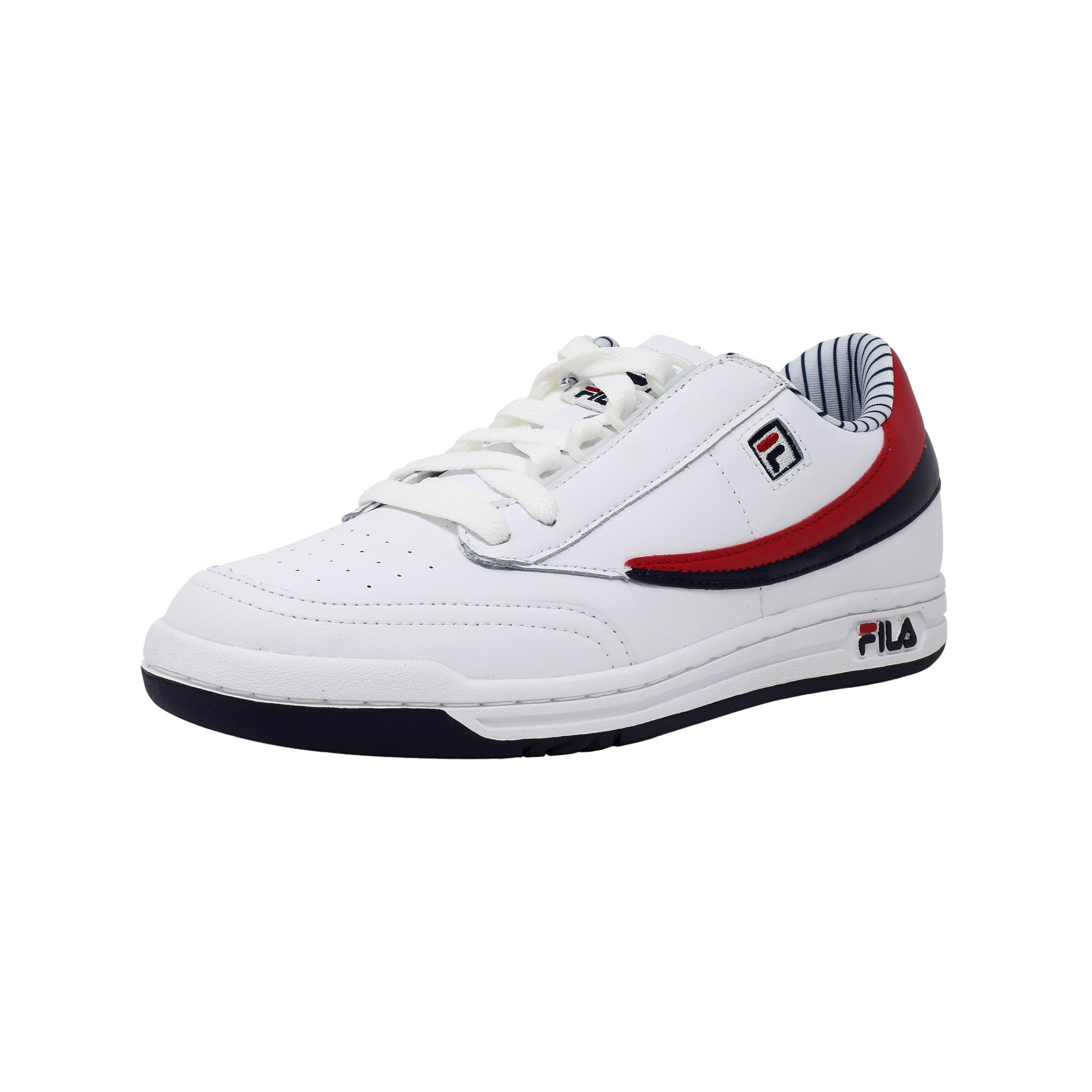 74cd5dc9f05e Fila Men s Original Tennis White   Navy High Rise Ankle-High Shoe - 14M