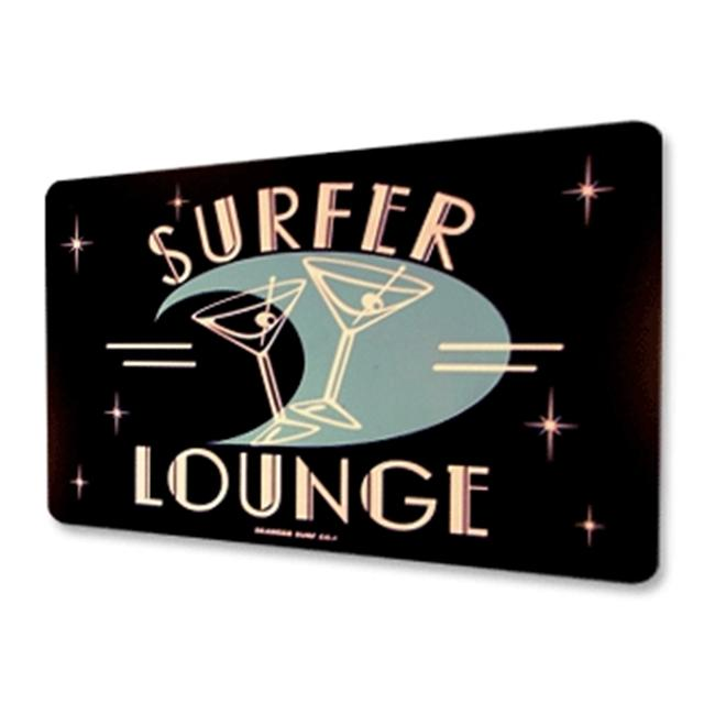 Seaweed Surf Co AA24 12X18 Aluminum Sign Surfer Lounge (White)