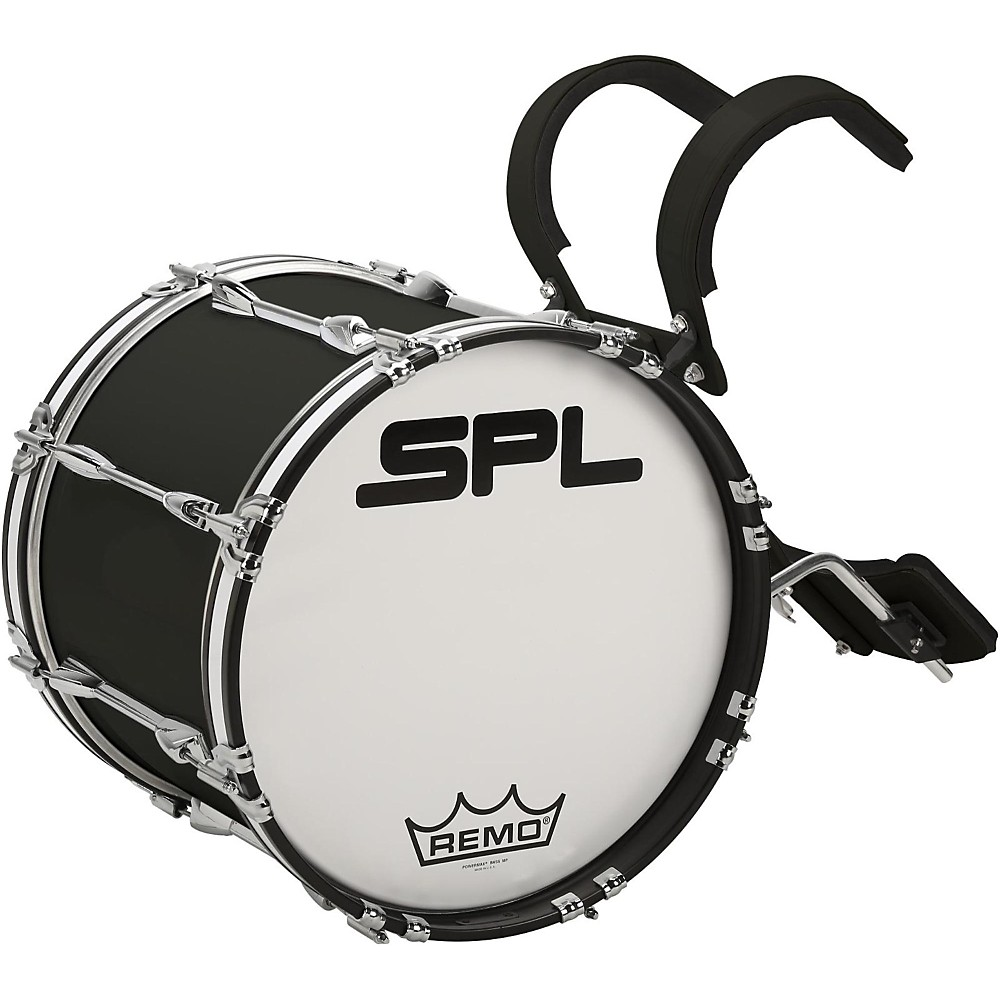 Sound Percussion Labs Birch Marching Bass Drum with Carrier 16 x 14 in. Black