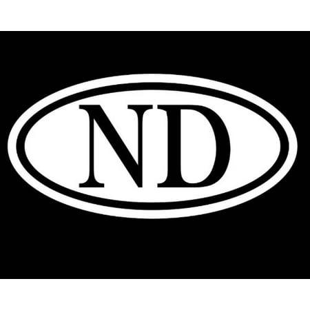 """NORTH DAKOTA 6"""" STICKER ND DECAL TRUCK CAR WINDOW VINYL MIDWEST WEST PRAIRIE COWBOY"""