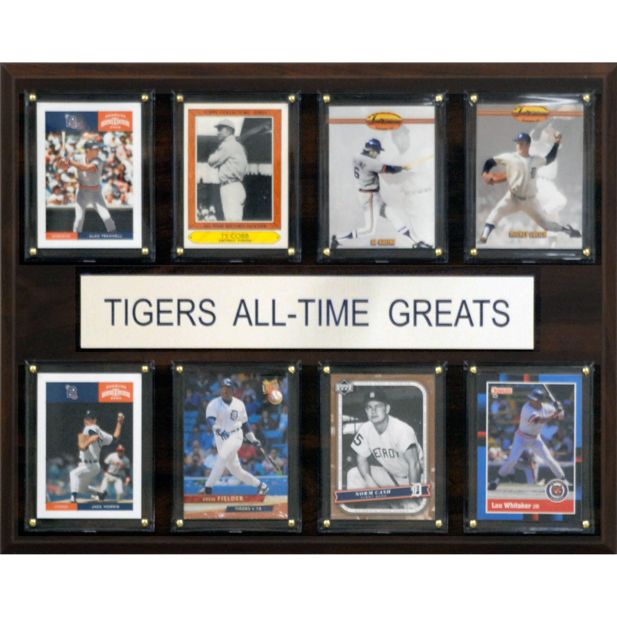 C&I Collectables MLB 12x15 Detroit Tigers All-Time Greats Plaque