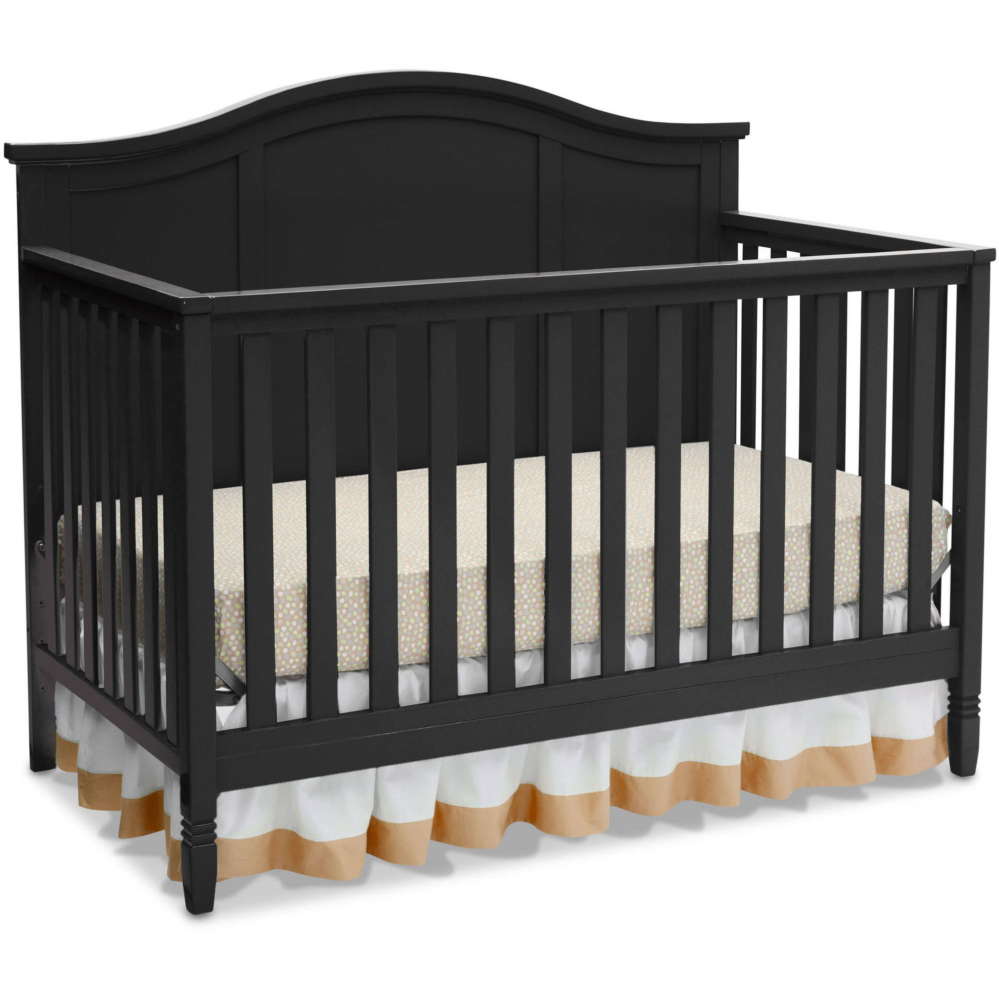delta children madrid 4-in-1 convertible crib, white - walmart