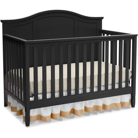 Delta Children Madrid 4-in-1 Convertible Crib, Black