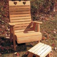Creekvine Designs Country Hearts Cedar Adirondack Patio Chair by Creekvine Designs Inc