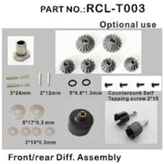 Redcat Racing RCL-T003 Front- Rear Diff.  Assembly