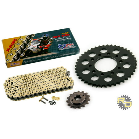 1986 Honda VF500F Interceptor CZ SDZ Gold X Ring Chain & Sprocket Kit 15/43 110L