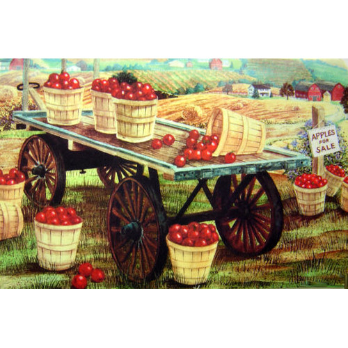 Custom Printed Rugs Apple Wagon Doormat