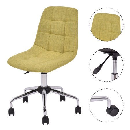 costway style upholstered office chair height adjustable