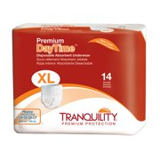 Tranquility Premium OverNight Adult Disposable Underwear 2117 X-Large Pack of 14, White