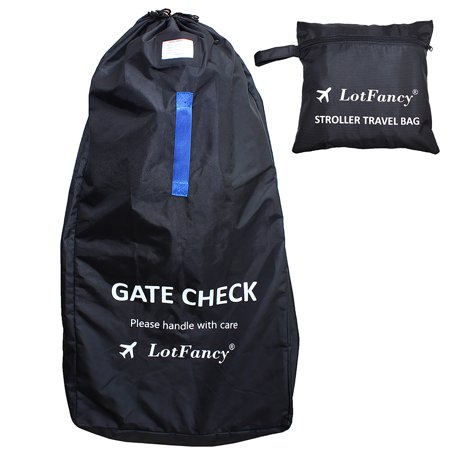Stroller Bag for Standard & Double Strollers, Ideal for Travel & Gate Check, Water-resistant