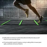 HERCHR 26.24ft Soccer Ball Football Flexibility Speed Training Fitness Jumping Ladder  , Soccer Ladder,Football Ladder——Perfect Training Equipment for Soccer