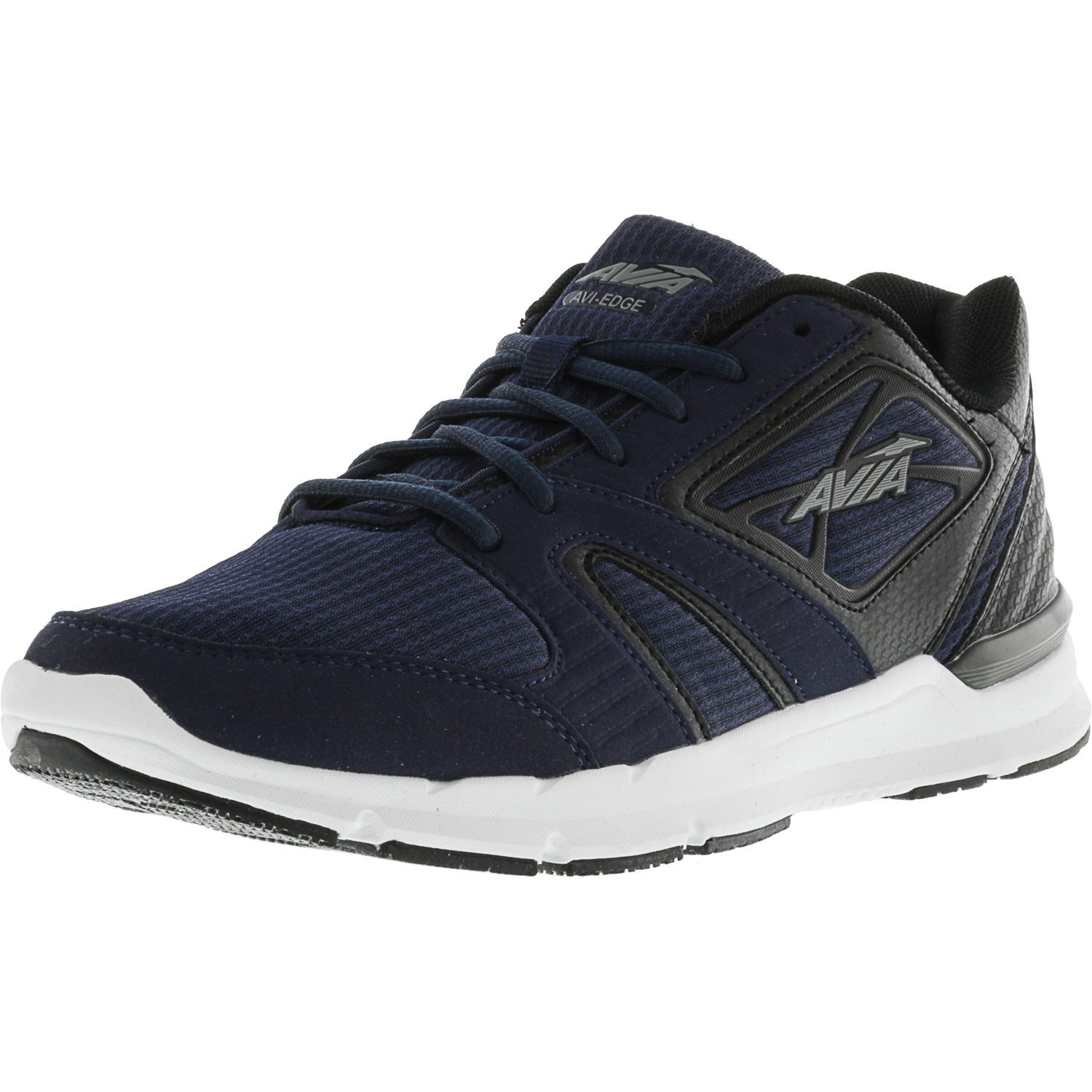 Avia Men's Avi-Edge True Navy   Black Frost Grey Ankle-High Running Shoe 9M by Avia