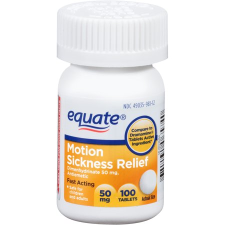 Equate Motion Sickness Relief Tablets  100 Count