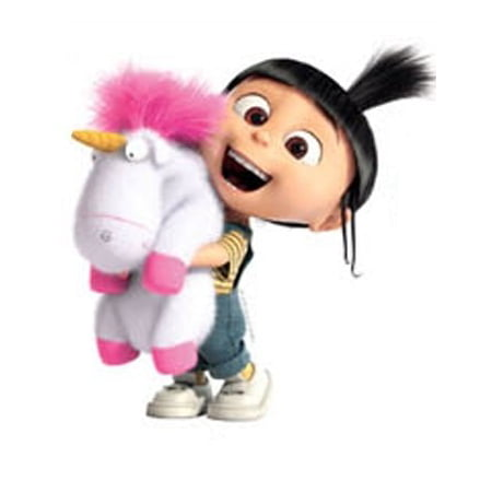 4 Inch Agnes Fluffy Unicorn Despicable Me 2 Minion Removable Wall Decal Sticker Art Home Decor Kids Room -4 1/2 Inch Wide By 4 1/2 Inch Tall - image 1 de 1