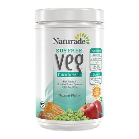 Naturade Veg protéines, No Soy, Plaine, 16 Oz