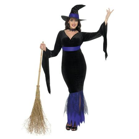 Women's Plus Size Glamorous Witch (Women's Glamorous Witch Costumes)