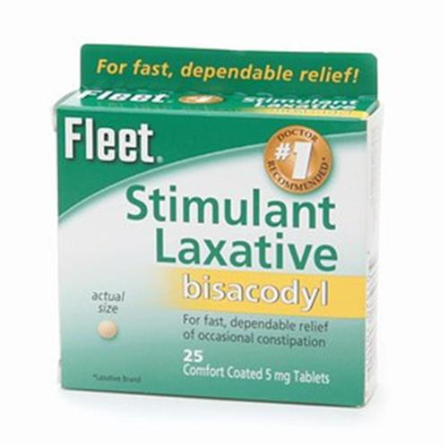 Fleet Laxative Tablets 25 Tablets (Pack of 4)