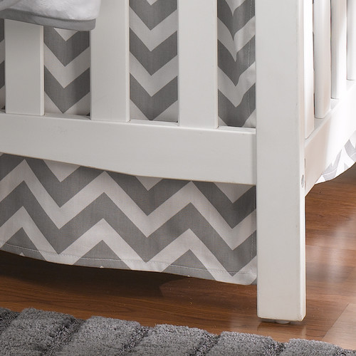 Liz and Roo Fine Baby Bedding Chevron Crib Skirt