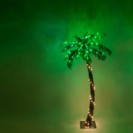 Wintergreen Lighting 5 Ft. Multi-Function Lighted Palm Tree with 104 LED Lights, Remote Control ()