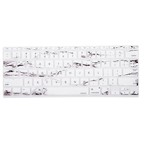 Mosiso Protective Keyboard Cover Skin for MacBook Air 11 Inch (Models: A1370 & A1465), Marble Pattern