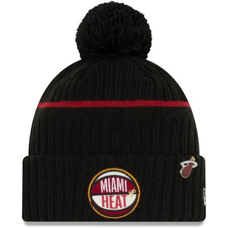 Miami Heat Halloween 2019 (Miami Heat New Era Youth 2019 NBA Draft Cuffed Knit Hat - Black -)