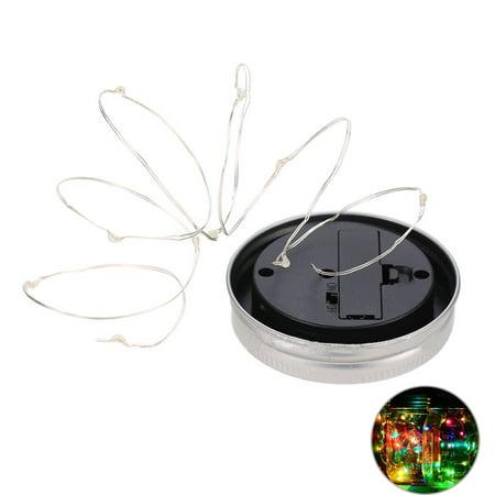 2M 20 LED Solar Mason Can Lid Cap Light String LED Fairy Light Decorative String Light for Garden Yard Home Landscape