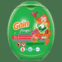Gain Flings Tropical Sunrise Laundry Detergent Pacs, 96 count