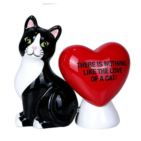 Cap Salt - Nothing Like The Love of A Cat Ceramic Magnetic Salt and Pepper Shaker Set