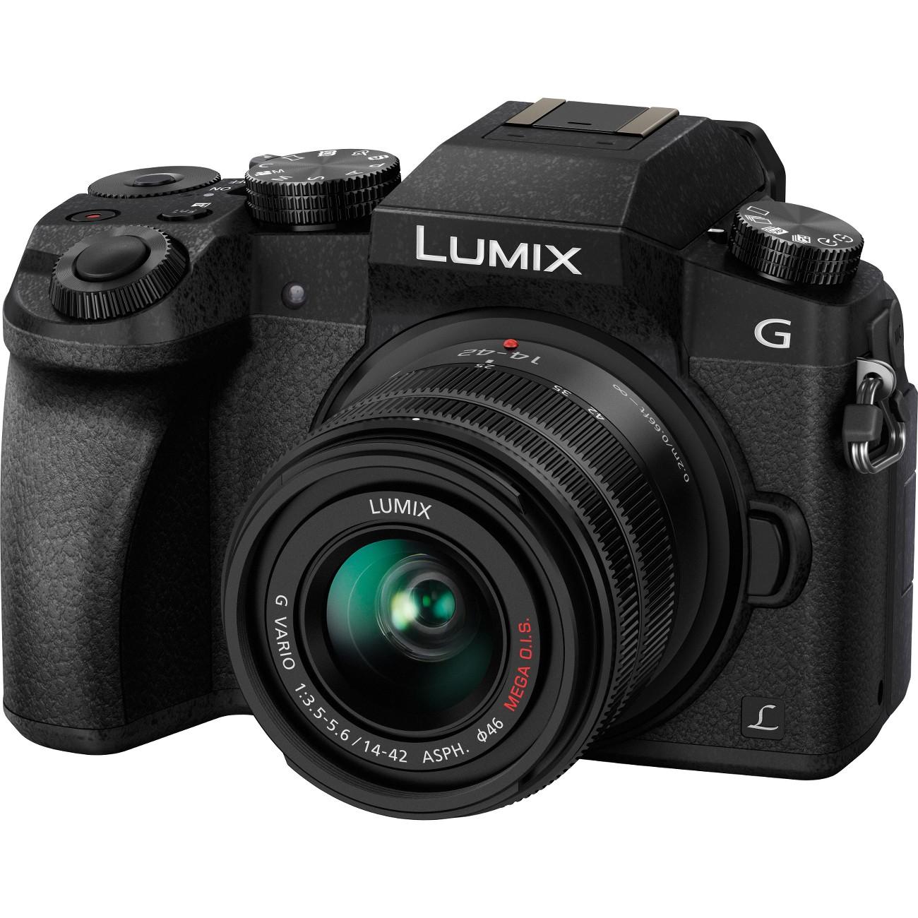 Panasonic Lumix DMC-G7 16 Megapixel Mirrorless Camera with Lens - 14 mm - 42 mm - Black (dmcg7kk)