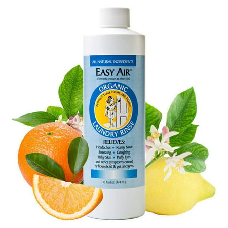 Easy Air Organic Allergy Relief Laundry Rinse, 16oz. Easy Paks Detergent