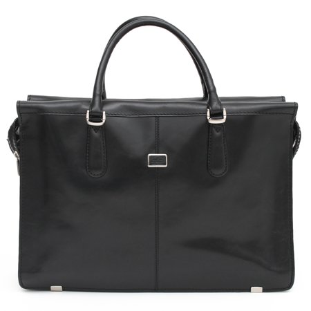 Womens Shoulder Laptop Briefcase Two Compartment Italian Leather by Tony Perotti