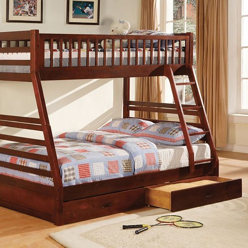 Harriet Bee Flournoy Twin over Full Bunk Bed with Drawers
