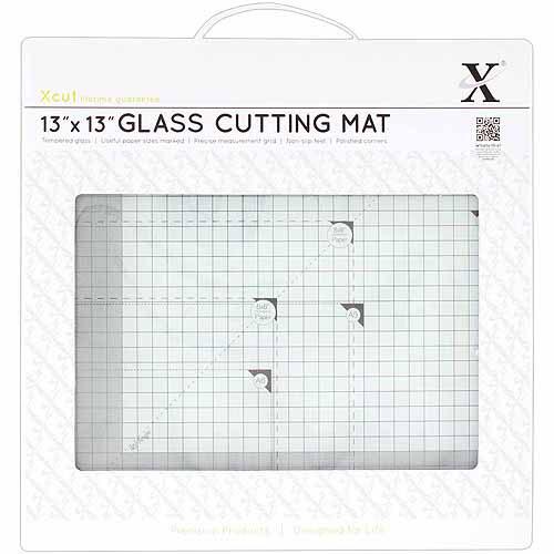 "Docrafts Xcut Tempered Glass Cutting Mat, 13"" x 13"""