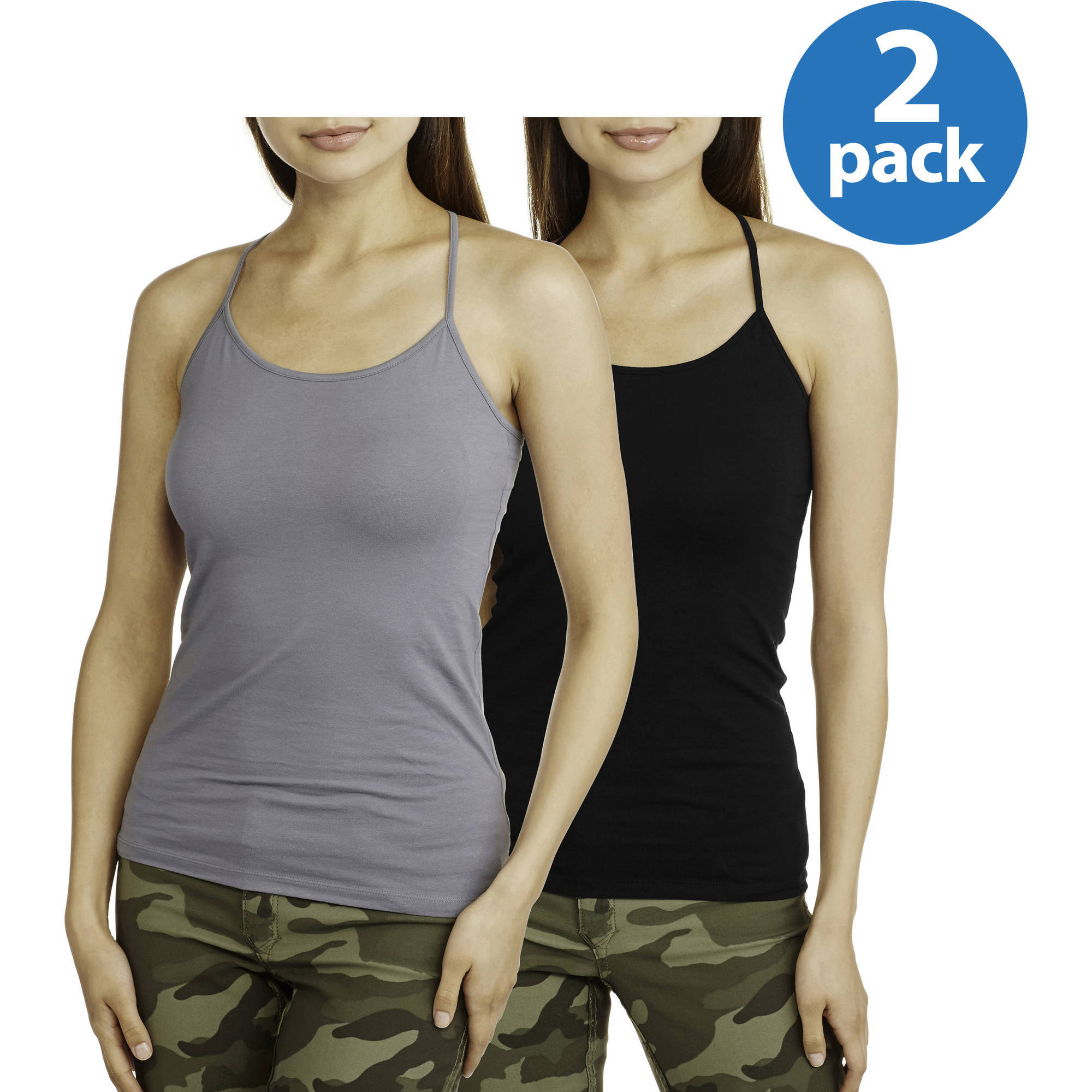 No Boundaries Juniors Essential Cami, 2-Pack Value Bundle - Only $1.68 Per Cami