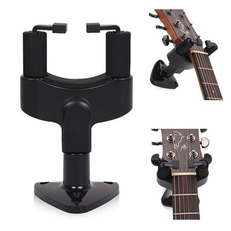 great 1x black guitar wall mount hanger stand holder hooks display acoustic bass. Black Bedroom Furniture Sets. Home Design Ideas
