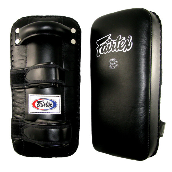 Fairtex Extra Long Thai Kick Pads - Black