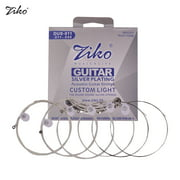 ZIKO DUS-011 Custom Light Acoustic Folk Guitar Strings Hexagon Alloy Wire Silver Plated Wound Corrosion Resistant 6 Strings Set