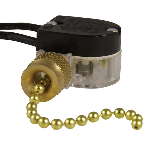 Gardner Bender Plated Pull Chain Switch