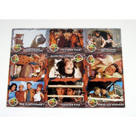 1993 Topps Card - 1993 Topps The Flintstones Pre-Production Promo Sheet of 9 Cards
