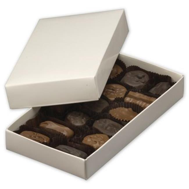 Deluxe Small Business Sales 292-070401-9 7.38 x 4 x 1.13 in. Two-Piece Candy Boxes, White