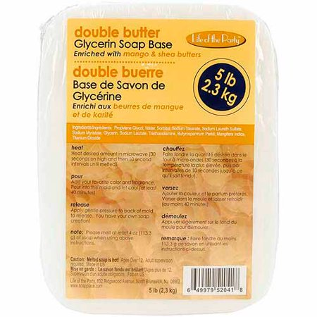 Glycerin Soap Base 5 Pounds-Double Butter