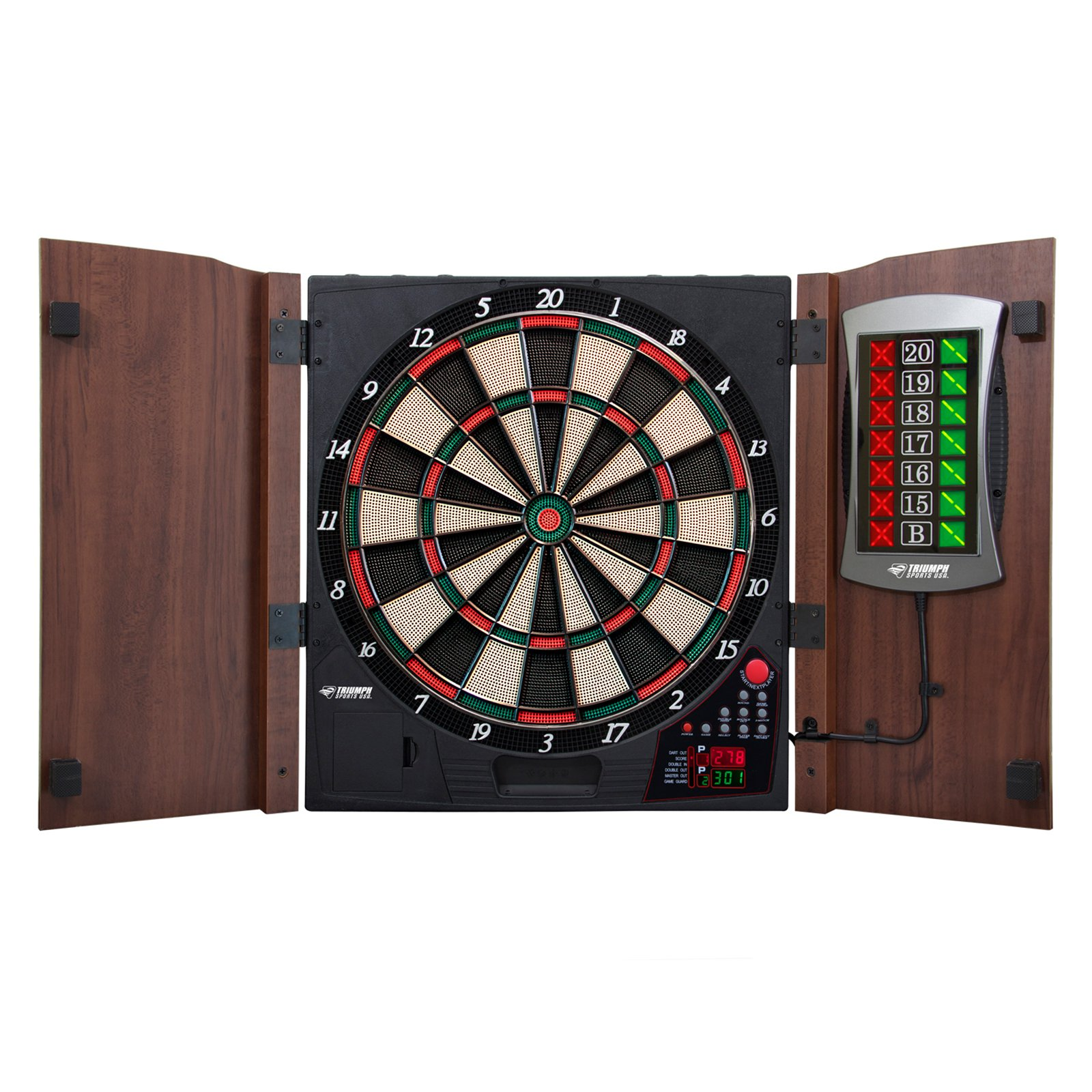 TG King's Head Value Dartboard Cabinet Set, Dark Wood - Walmart.com