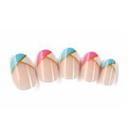 OH Fashion Stick on Nails Monnlight 24 pcs, Fake Nails, French Style, beauty, nail filer, nail file, manicure set, pedicure set, nail care