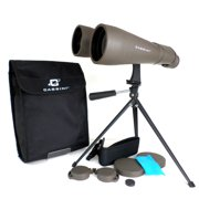 Cassini 15 x 70mm Day and Night Binocular brings images 15 x closer with exra large 70mm Objective lens for bright and wide views of the Moon. Tabletop Tripod and Shoulder Case