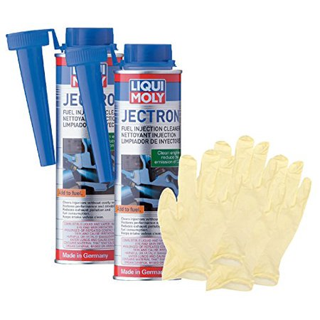 Liqui Moly Jectron Fuel Injection Cleaner (300 ML) Bundle with Latex Gloves (6 Items)